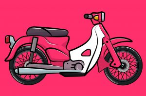 Motorcycle Pink Scooter Scooter  - cokiart18 / Pixabay