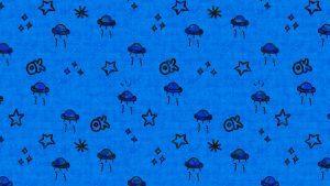 Ufos Space Ships Blue Background  - chenspec / Pixabay
